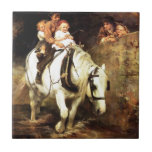 Children on a Horse painting Ceramic Tiles