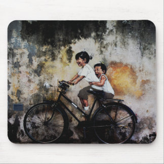Children On Bike, Mouse Mat