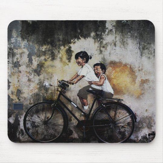 Children On Bike, Mouse Mat