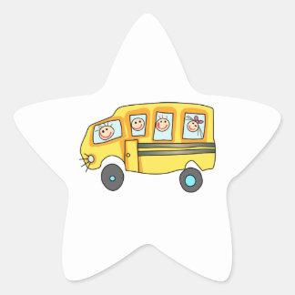 CHILDREN ON SCHOOL BUS STAR STICKERS