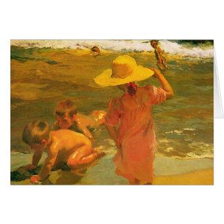 Children on the Sea-shore - Joaquín Sorolla Greeting Card