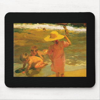 Children on the Sea-shore - Joaquín Sorolla Mouse Pad