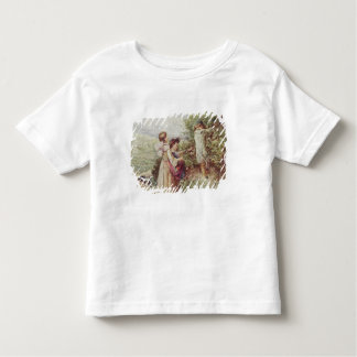 Children picking blackberries, 19th century toddler T-Shirt