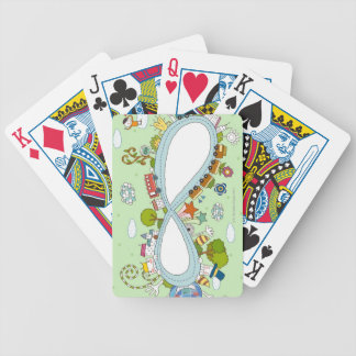 Children Playing 2 Bicycle Playing Cards