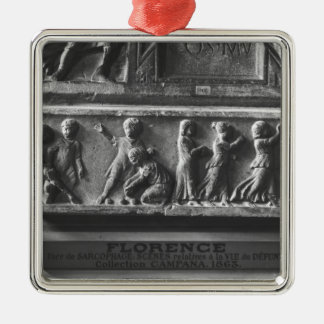 Children Playing Ball Games, fragment Christmas Ornament