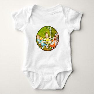 Children playing, dancing  baby training body suit baby bodysuit