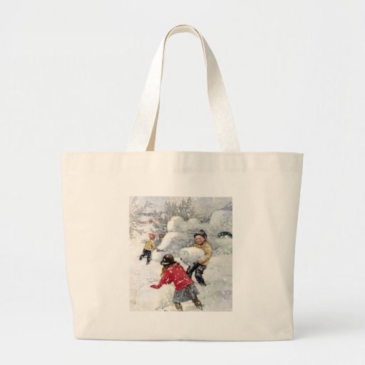 children playing in snow bags