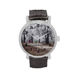 Children Playing in Winter Wrist Watches
