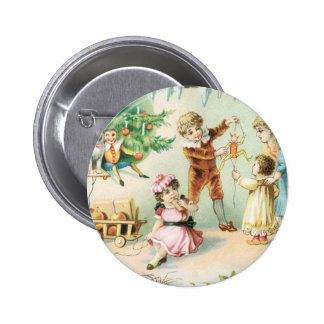 Children Playing on Christmas Buttons
