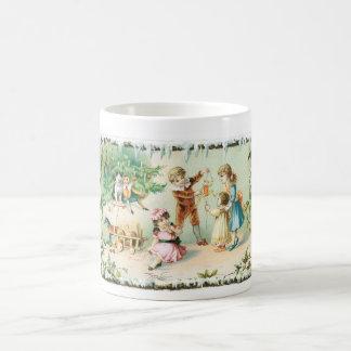 Children Playing on Christmas Mug