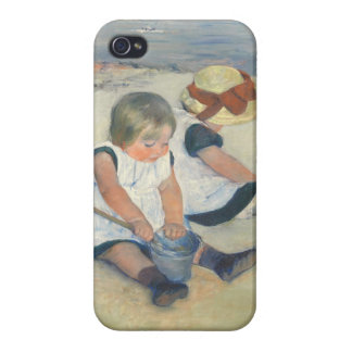 Children Playing on the Beach, 1884 Case For iPhone 4