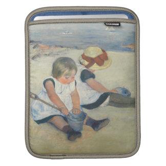 Children Playing on the Beach, 1884 iPad Sleeve
