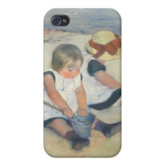 Children Playing on the Beach, 1884 iPhone 4/4S Case