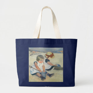 Children Playing on the Beach, 1884 Large Tote Bag