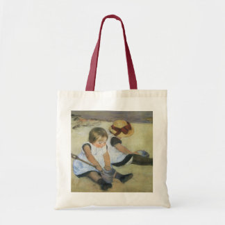 Children Playing on the Beach by Mary Cassatt Tote Bag