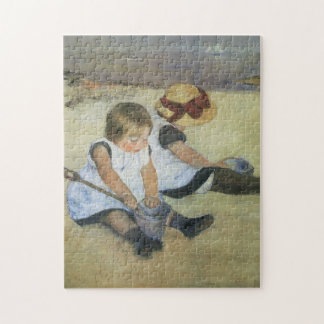 Children Playing on the Beach by Mary Cassatt Jigsaw Puzzle