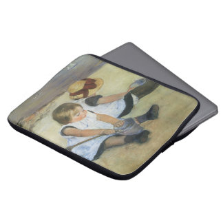 Children Playing on the Beach by Mary Cassatt Laptop Sleeve