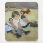 Children Playing on the Beach by Mary Cassatt Mousepads