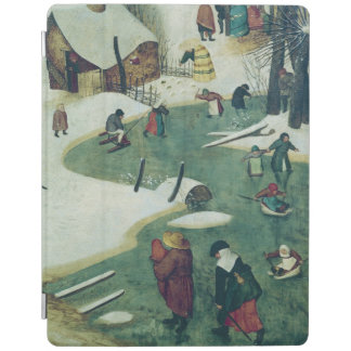 Children Playing on the Frozen River iPad Cover