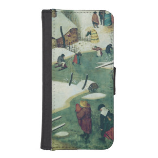 Children Playing on the Frozen River iPhone SE/5/5s Wallet Case