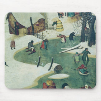 Children Playing on the Frozen River Mouse Mat