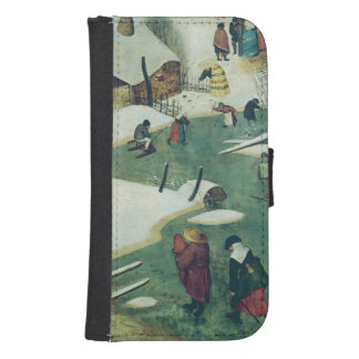Children Playing on the Frozen River Samsung S4 Wallet Case
