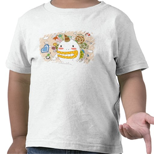 Children playing with monster tshirt