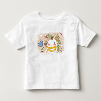 Children playing with monster tee shirt