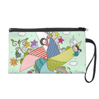 Children Playing with Toys Wristlet Clutches