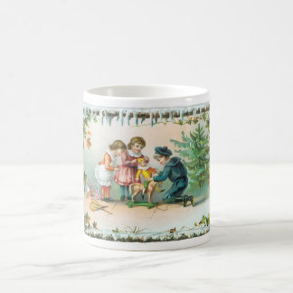 Children Playing with Toys on Christmas Coffee Mug