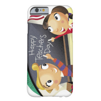 Children pointing at a chalkboard barely there iPhone 6 case