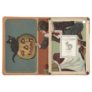 Children Pumpkin Jack O' Lantern Black Cat Case For iPad Air