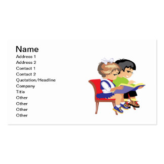 Children Reading 2 Pack Of Standard Business Cards