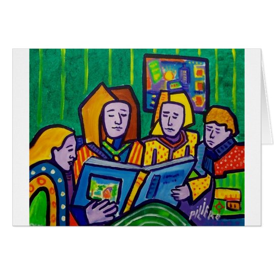 Children Reading by Piliero Card