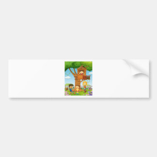 Children riding and playing in the park bumper sticker