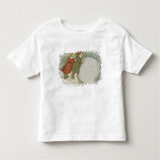 Children Rolling Snowballs Toddler T-Shirt