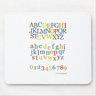Children s Colorful Alphabet Upper + Lower Case Mouse Pad