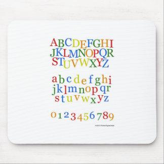 Children s Colorful Alphabet Upper + Lower Case Mouse Pad