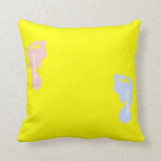 Children s Footprints Throw Pillow