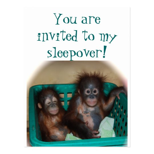 Children 's Party Sleepover Invitation Postcard