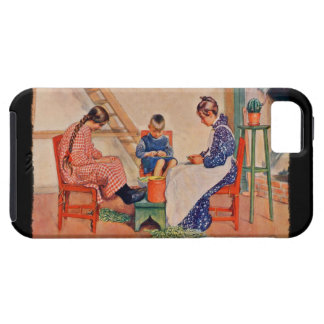 Children Shelling Peas iPhone 5 Cover