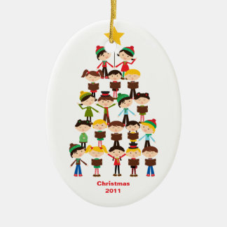 Children Singing Carols Christmas Ornament
