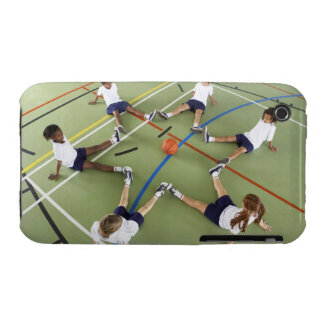 Children sitting on the floor of a sports hall iPhone 3 Case-Mate case