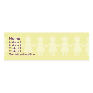 Children - Skinny Pack Of Skinny Business Cards