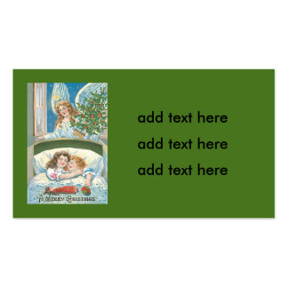 Children Sleeping Angel Christmas Tree Window Pack Of Standard Business Cards