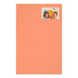 Children Smiling Jack O' Lantern Pumpkin Customized Stationery