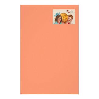 Children Smiling Jack O' Lantern Pumpkin Customized Stationery