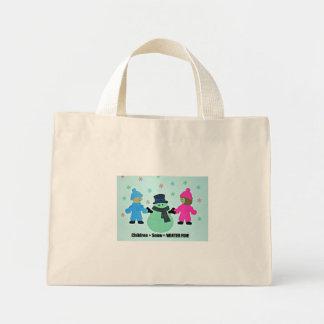 Children + Snow = WINTER FUN! Mini Tote Bag