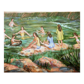 Children Swimming Poster