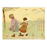 """Children"" Vintage French Illustration Postcard"